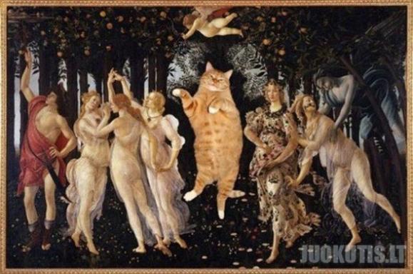 Katės žinomuose paveiksluose