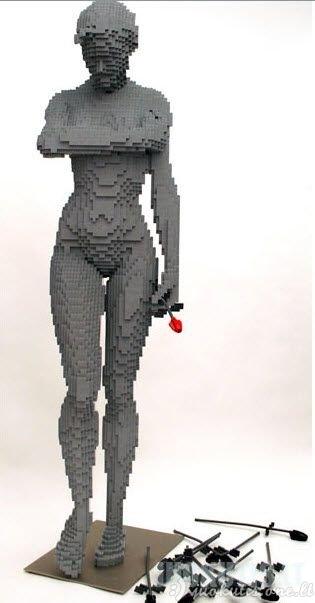 Skulptūros iš Lego