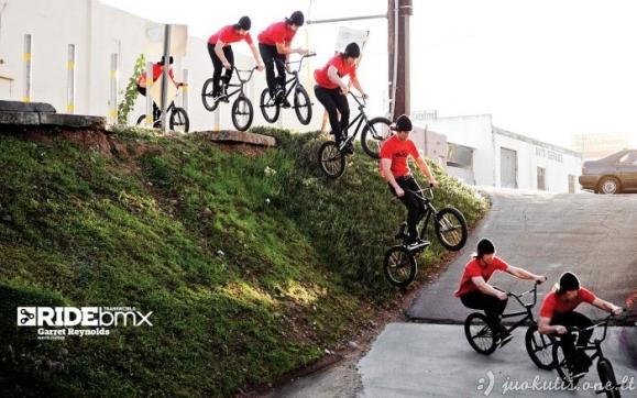 Kieti triukai su BMX