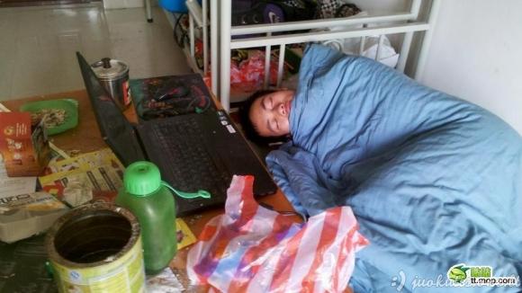 Kinijos studentas per sesiją