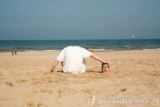 Juokingos nuotraukos iš paplūdimio