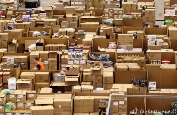 Amazon internetinės parduotuvės sandėlys