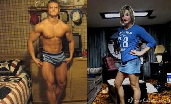 Kas bendro tarp šių dviejų žmonių nuotraukoje?