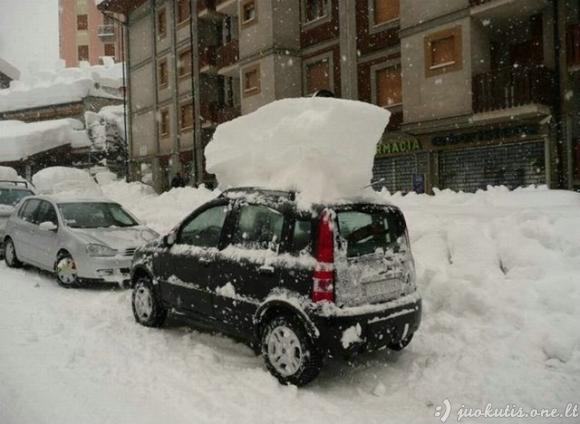 Žiauriai daug sniego