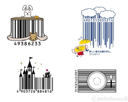 Štrich kodai kaip meno tema