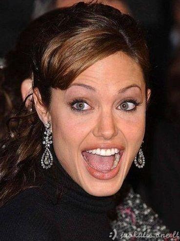 Neįkainojamos Angelinos Jolie veido išraiškos