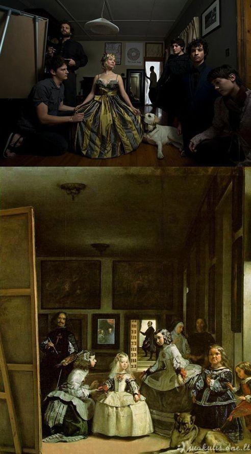 Garsių paveikslų perdarymas