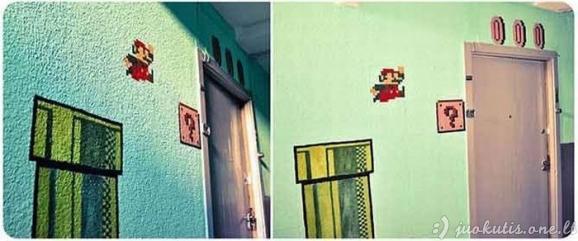 Linksma Super Mario laiptinė