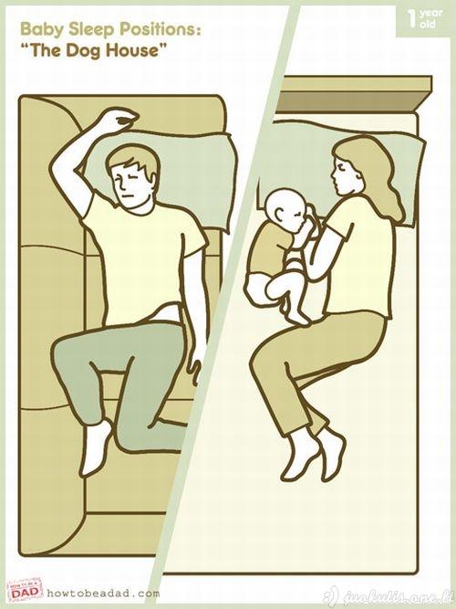 Mažo vaiko miegojimo pozos
