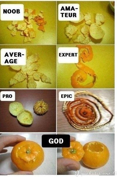 Kaip nulupti mandariną