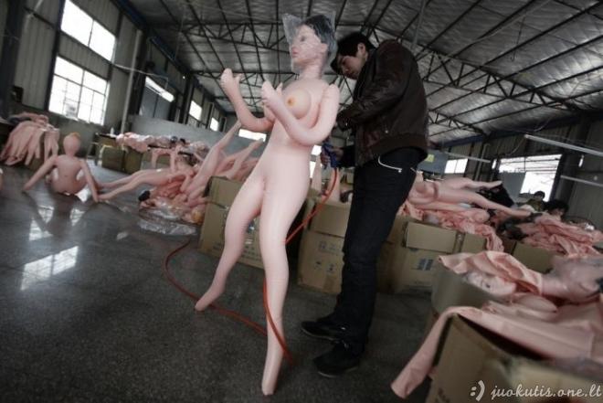 Guminių bobų gamyba Kinijoje