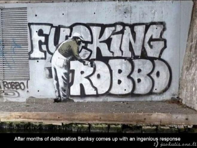 Karas tarp King Robbo ir Banksy