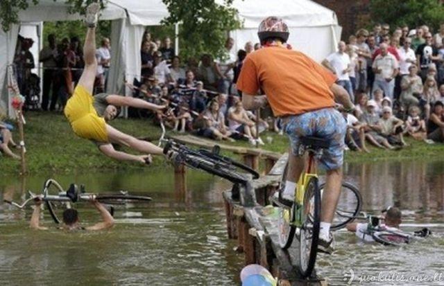 Bloga dviratininkų diena