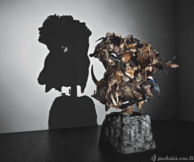 Šešėlinis menas iš šiukšlių