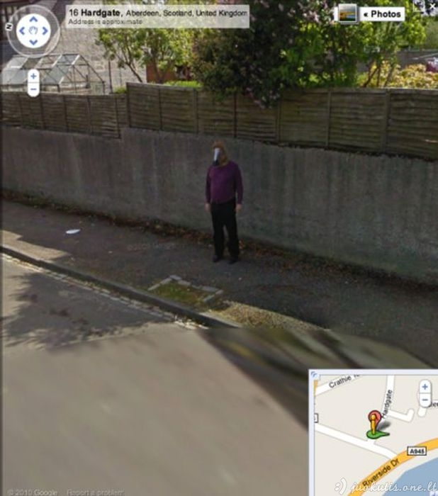 Įdomūs paveiksliukai iš Google Maps