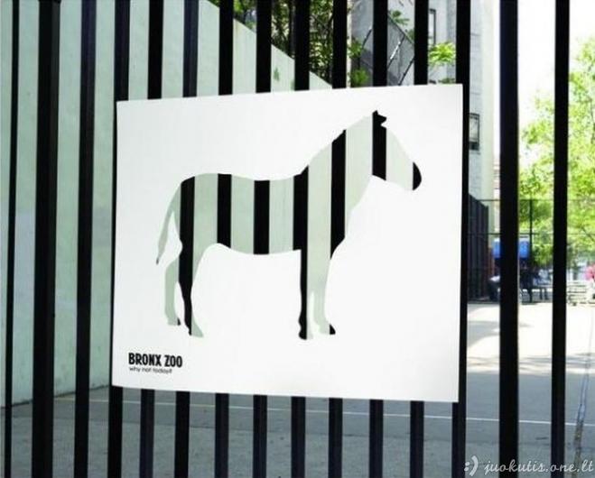Gera zoologijos sodų reklama