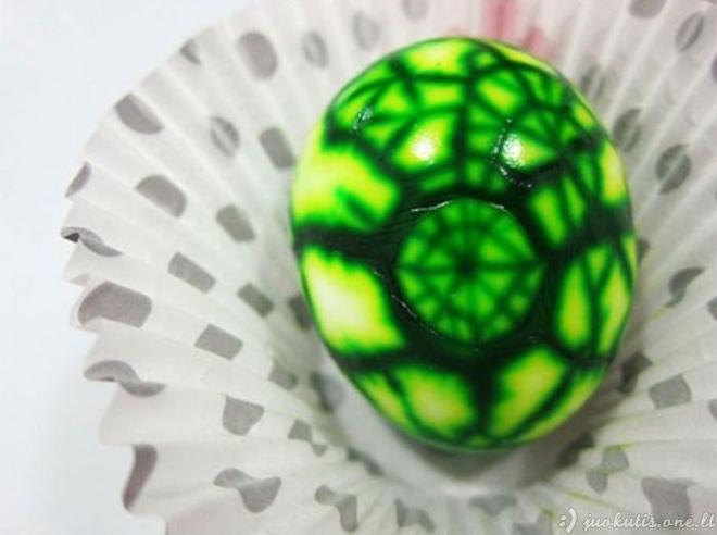Kiaušiniai su marmuro efektu