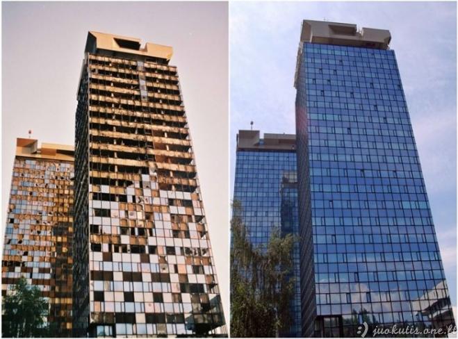 Sarajevo miestas tada ir dabar