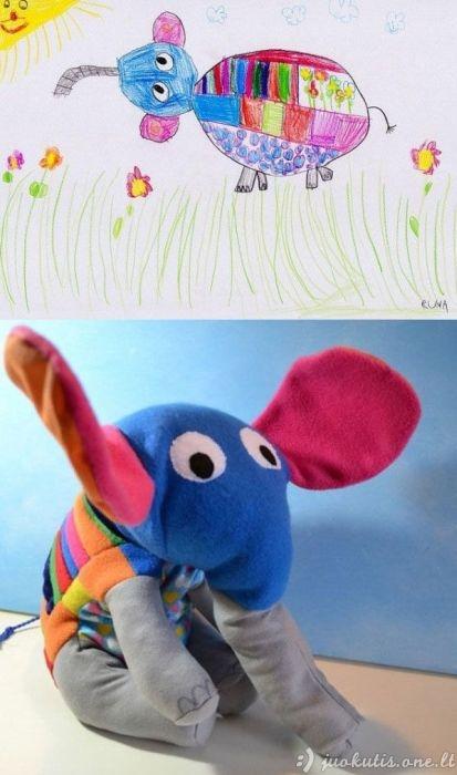 Žaislai pagal vaikiškus priešinius