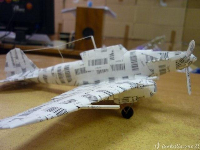 Naujos kartos lėktuvėlis iš popieriaus
