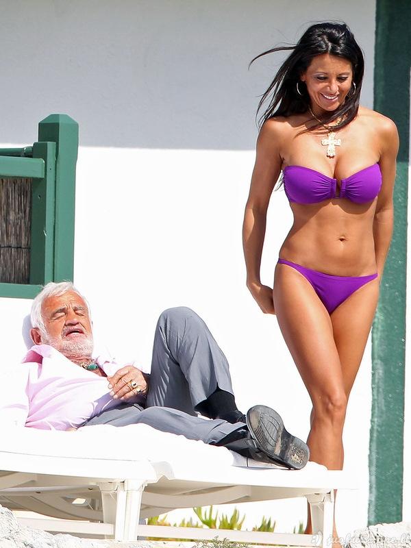 Žanas Polis Belmondo ir jo draugė
