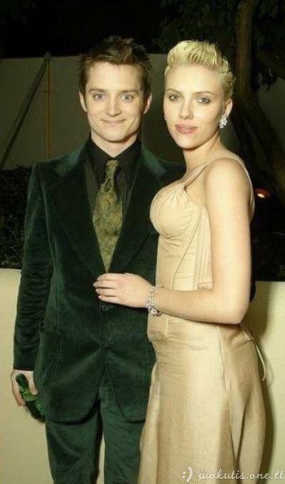 Elijah Wood ir Scarlett Johansson prieš 10 metų ir dabar