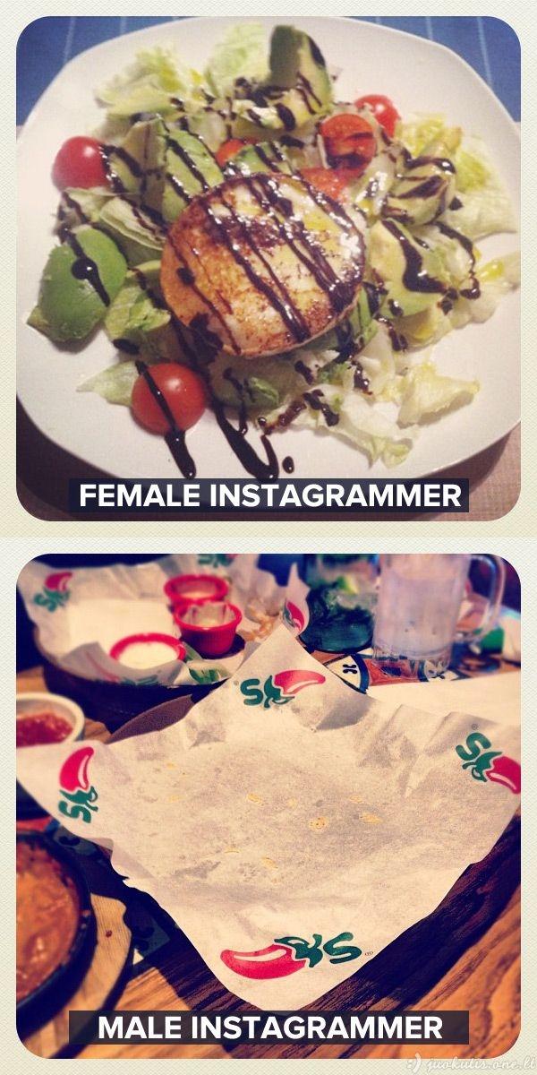 Vyras instagrameris prieš moterį instagramerę