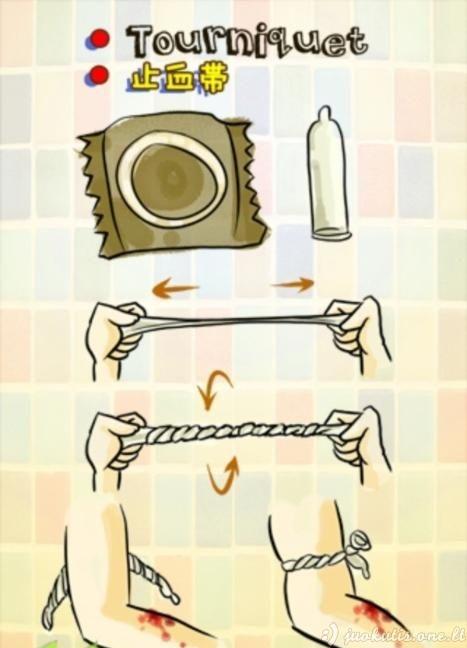 Kaip galima panaudoti prezervatyvą