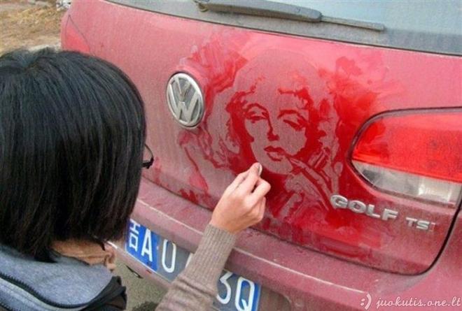 Nešvarus menas ant automobilių