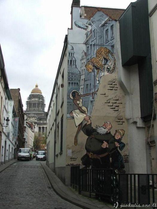 Nuostabus grafitis Belgijoje