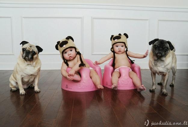 Mielos mopsų kepurėlės vakams
