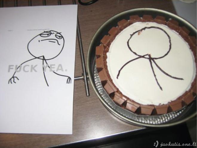 Labai šokoladinis tortas merginai