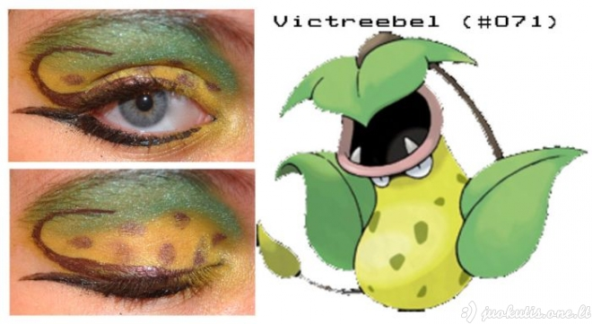 Pokemonų įkvėptas akių makiažas