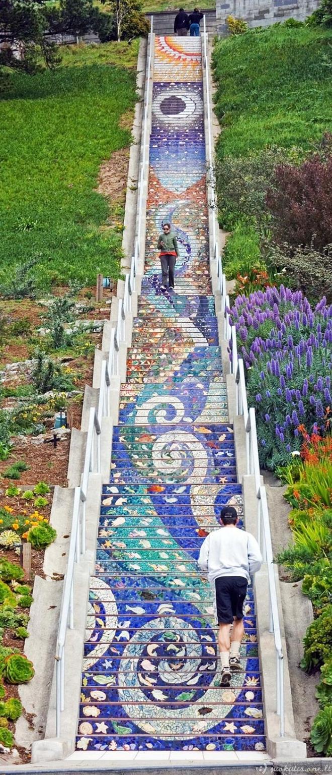 Nuostabūs laiptai San Franciske