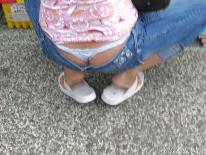 Kelnės su pažemintu liemeniu