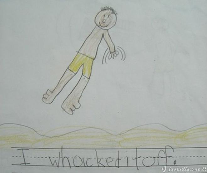 Baisūs vaikų piešiniai