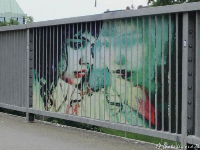 Įdomus grafitis ant tvorų