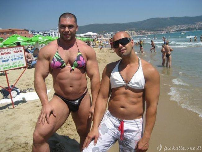 Keistoki ir juokingi momentai pliaže