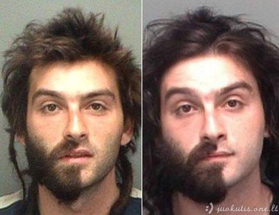 Juokingos nusikaltėlių nuotraukos