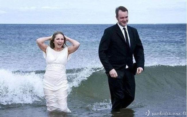 Nepavykusi vestuvinė fotosesija