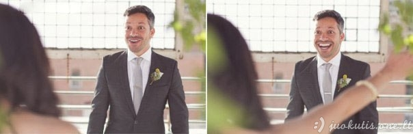 Jaunikiai mato žmonas su nuotakos suknelėmis