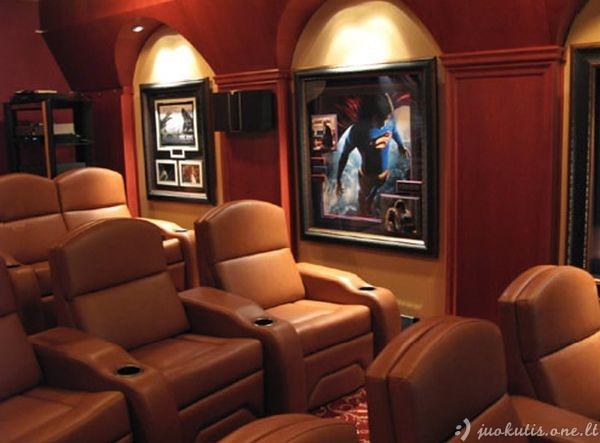 Prašmatnus namų kino teatras