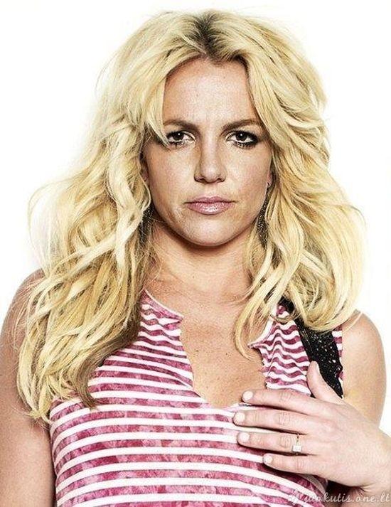 Britney Spears be fotošopo
