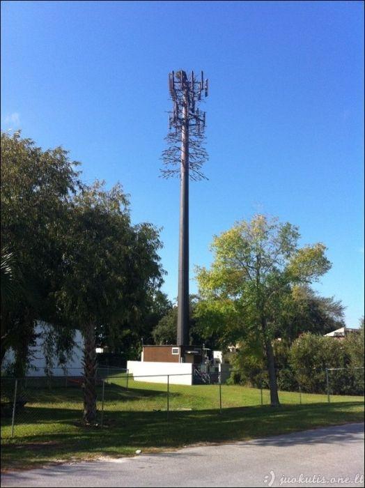Užmaskuotos mobiliojo ryšio antenos