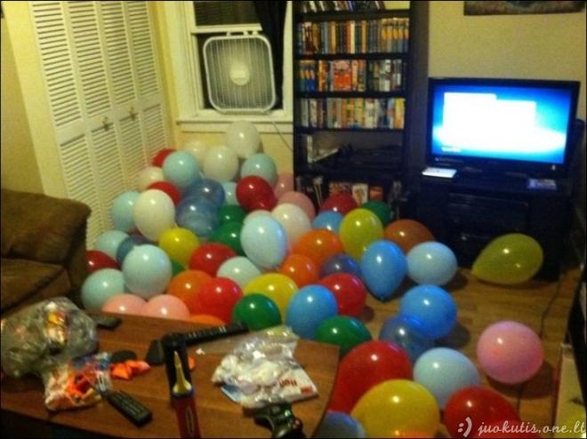 1500 balionų draugui