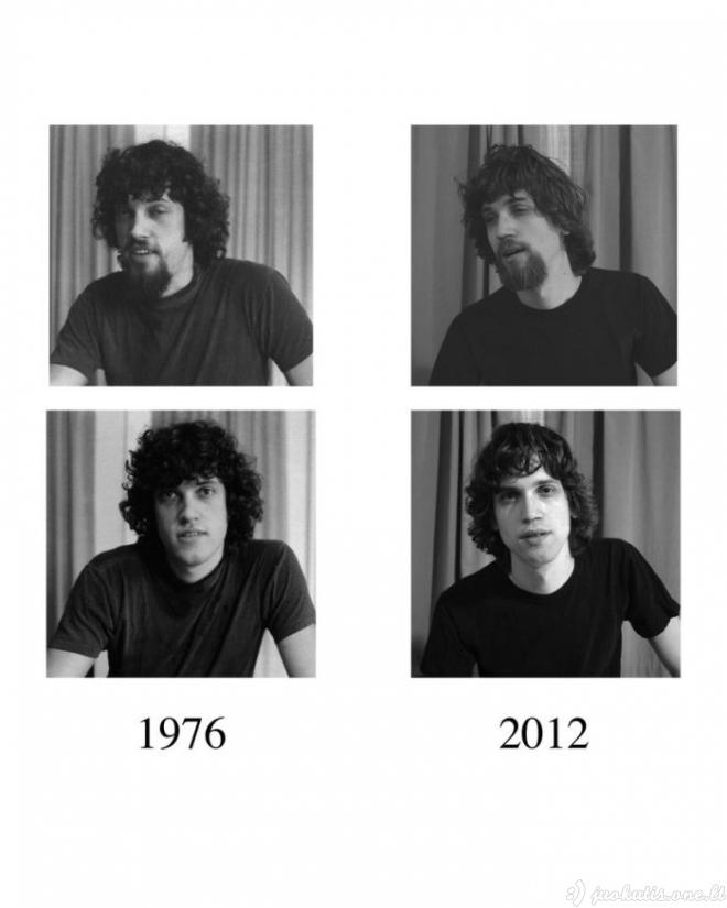 Tėvas 1976 metais ir sūnus 2012 metais