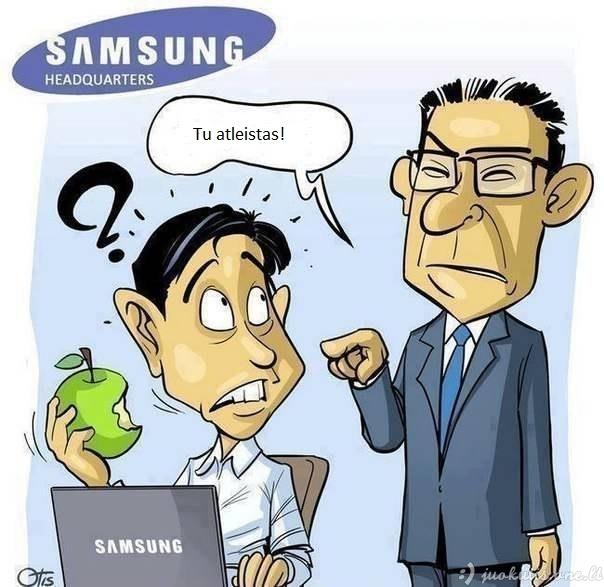 Samsungas nemėgsta Apple