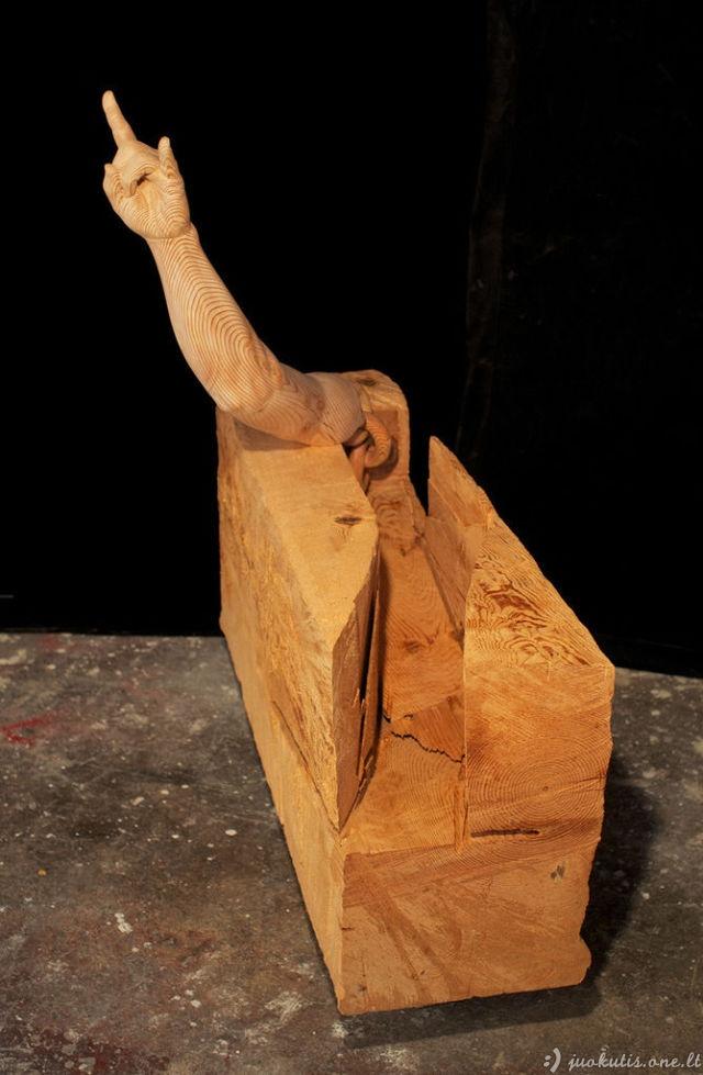 Įspūdingos skulptūros iš medžio
