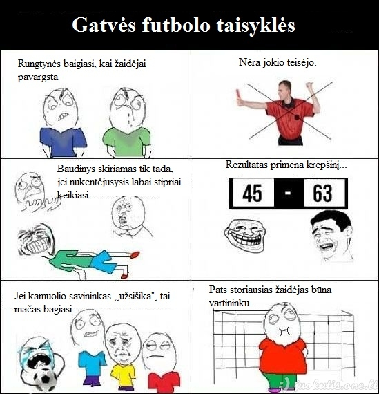 Gatvės futbolo taisyklės