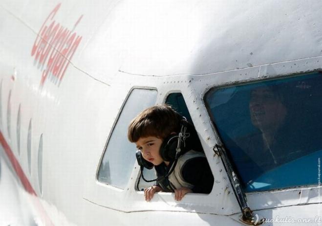 Vaikų darželis lėktuve